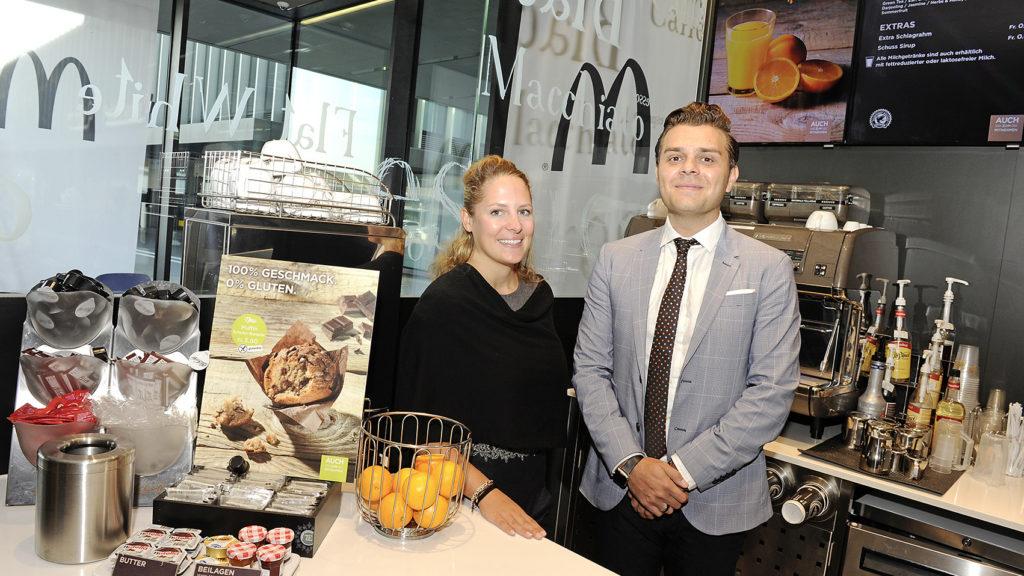 «Ein völlig neues Gastroerlebnis» Sarah Dallmaier und Mergim Lokaj (beide Co-Geschäftsführer der sechs McDonald's Restaurants von Kurt Dallmaier in und um Bern)