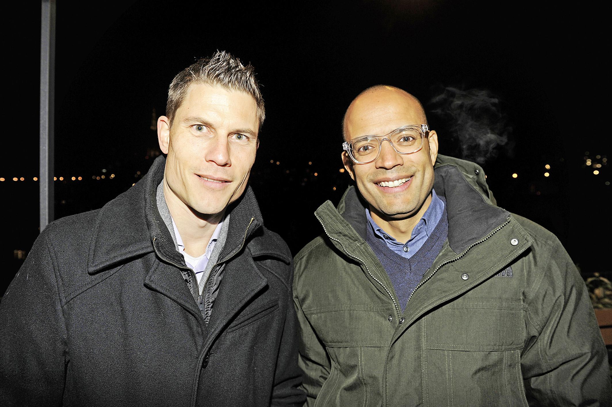 Christian Belz (ehemals Athlet Langstreckenläufer, links) und Cedric El-Idrissi (ehemals Athlet 400 Meter Hürdenlauf)
