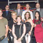Die glücklichen Gewinner des Tapas-Wettbewerbes mit Isabel Florido (auch rechts im Bild mit Fächer) und Mitarbeitern des Grand Casino Bern