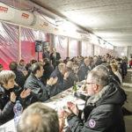 Besondere Ambiance im Rohbau: In der Bärenclub-Lounge der künftigen BSV-Heimstätte Ballsporthalle Gümligen genossen 230 Gäste den Fondue-Plausch und die Vorfreude auf weitere Anlässe ab August 2018.