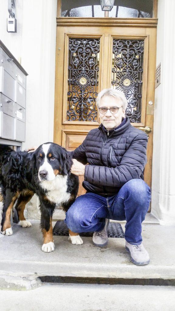 Ex-Span-Musiker Matthias Kohli mit Hund Zita
