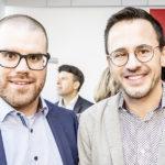 Michael Blatter (Exec. Assistant CEO Haag-Streit AG, l.) und Nik Eugster (Geschäftsleitung Radio Energy Bern)