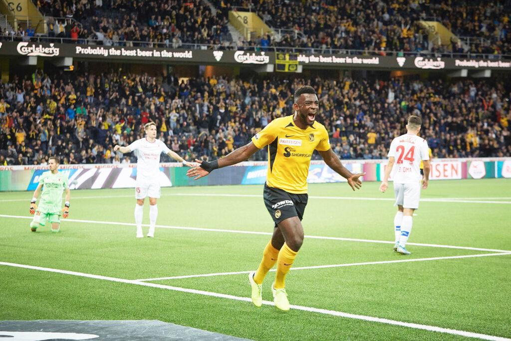 Jaaaaaaaa! Jean-Pierre Nsame bejubelt am Samstagabend sein 2:1 gegen den FC Sion. Es ist bereits der achte Saisontreffer des Kameruners, der damit die Torschützenliste der Super League weiter anführt.